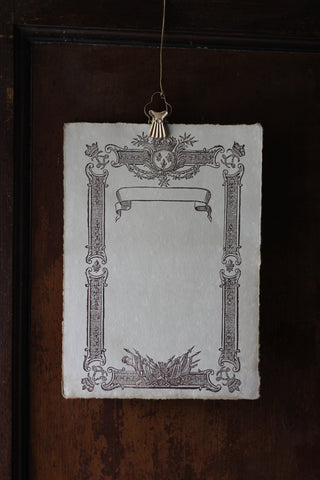 Antiqued Paper Menu Card