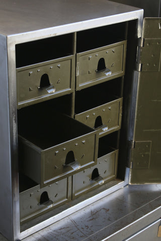 Steel Cabinet with Six Internal Drawers