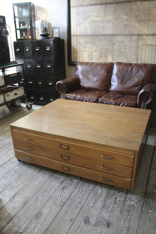 Vintage Plan Chest Coffee Table