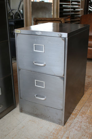 Vintage Two Drawer Filing Cabinet