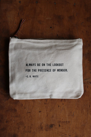 Canvas Bag- The presence of wonder