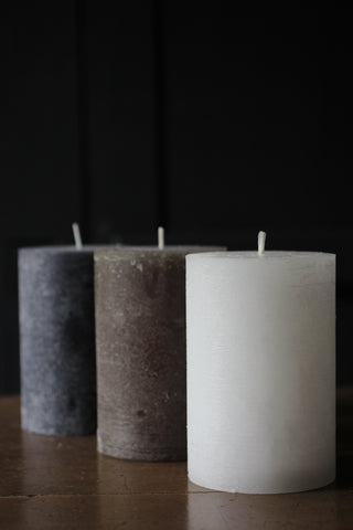 Macon rustic Pillar Candle Large