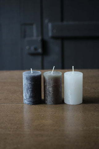 Macon rustic Pillar Candle Tiny