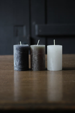 Macon rustic Pillar Candle Small
