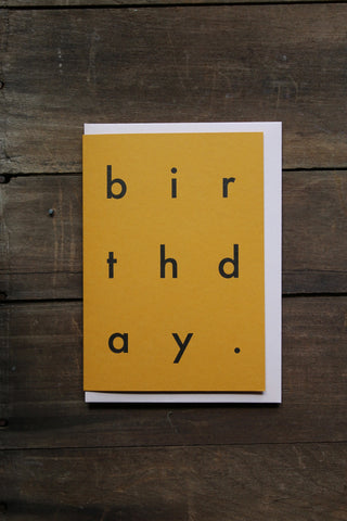 Katie Leamon Extract Birthday Mustard Card