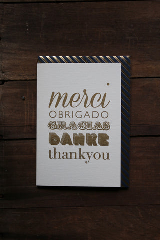 Katie Leamon Gold Merci Card
