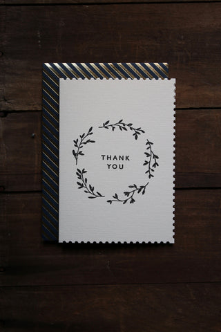 Katie Leamon Deco Thank You Wreath Card