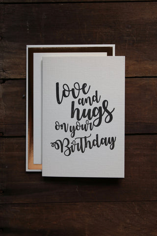 Katie Leamon Love & Hugs B'day Card