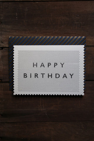 Katie Leamon Deco Pinpoint Birthday Card
