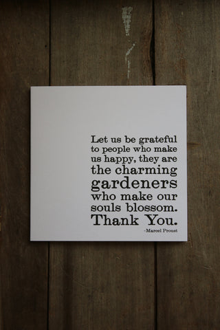 Quotable Card -  let us be grateful...