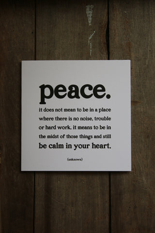 Quotable Card - Peace
