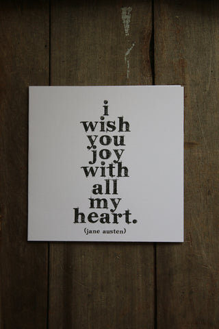 Quotable Card -  i wish you joy