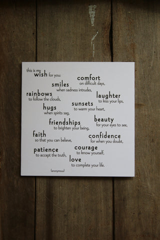 Quotable Card - My wish for you