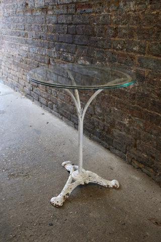 French Cast Iron & Glass Table