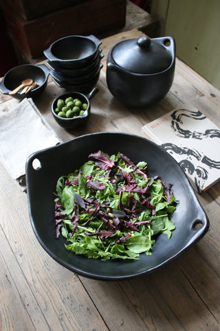 Black Ceramic Stir fry Dish