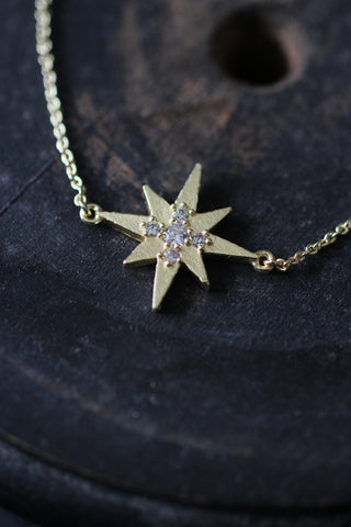 Gold plated Bracelet with star zircons