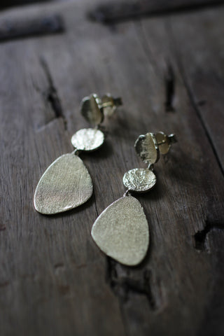 Earring with pendants, Gold plated