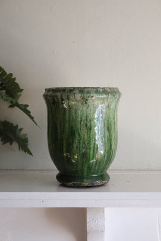 Glazed Forest Green Small Urn