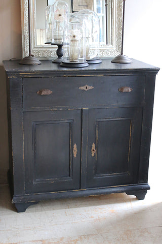 Continental Vintage Black Cupboard