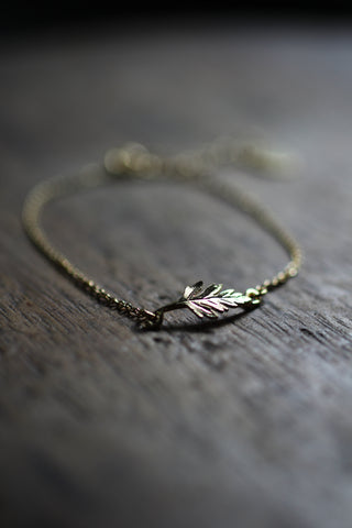 Alex Monroe Little Fern Leaf Bracelet