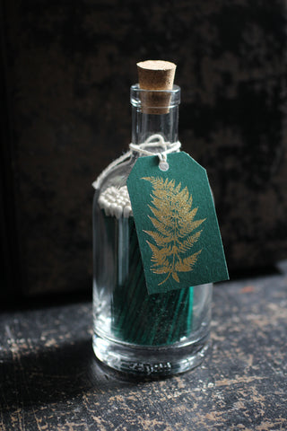 Luxury Matches in Glass Bottle fern