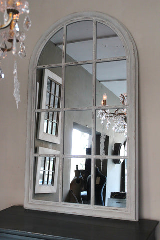 French Grey Arch Mirror