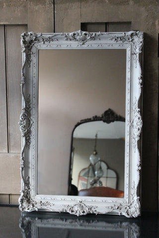 Decorative Vintage White Mirror