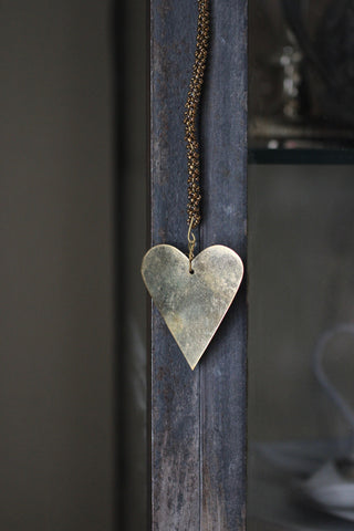 Walther & Co Brass Hanging Heart