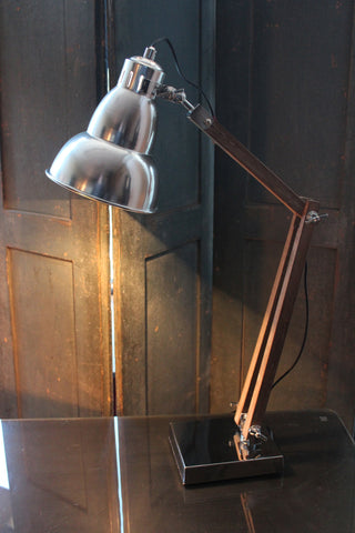 Aluminium and Wood Desk Lamp