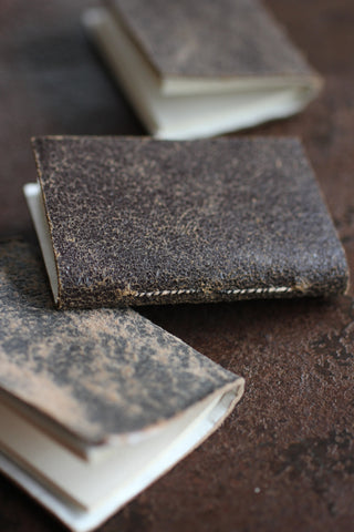 French Mini Leather Notebook
