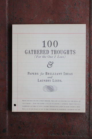 100 Gathered Thoughts Notebook