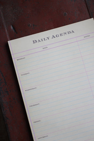 Daily Agenda Notepad