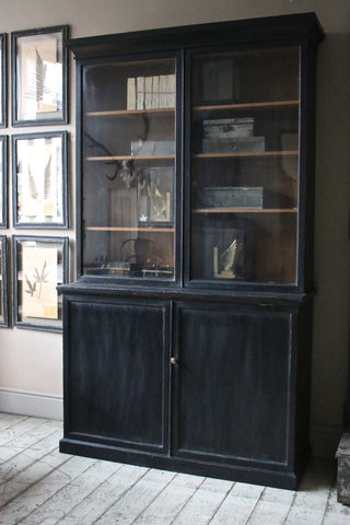 Black Glazed Vintage Bookcase
