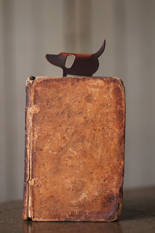 Dog Recycled Leather Bookmark