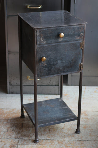 Antique French Steel Nightstand