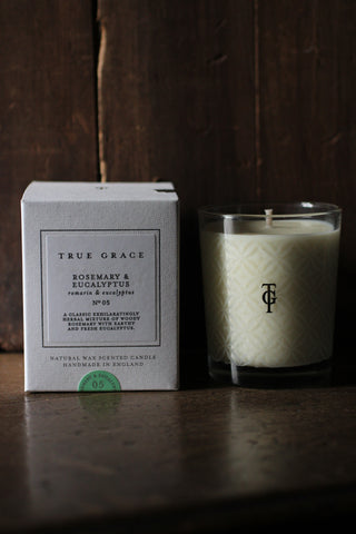 True Grace Rosemary & Eucalyptus Candle - No 5