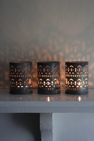 Shiva Zinc T-light holders