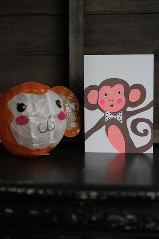 Japanese Paper Balloon Cards - Monkey