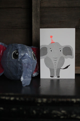 Japanese Paper Balloon Cards - Elephant
