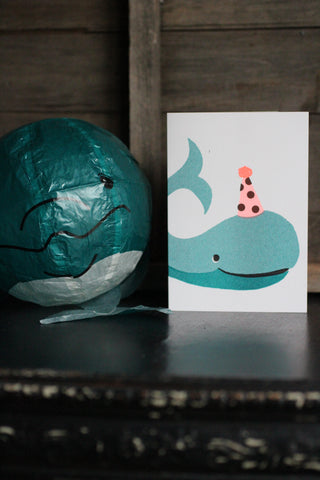 Japanese Paper Balloon Cards - Whale