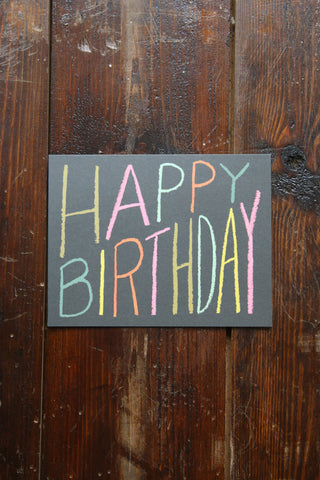 Happy Birthday Crayon Card