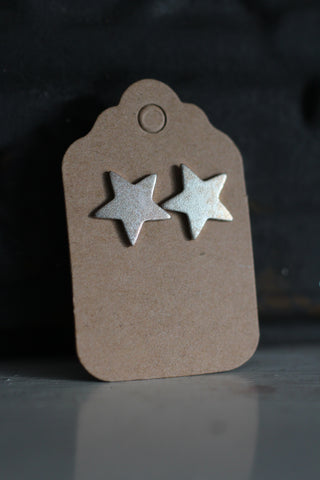 Silver Lucky Star Earrings