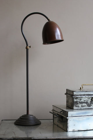 Copper and Brass Table Lamp