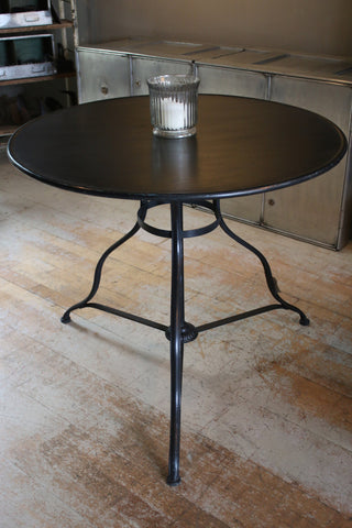 Black Metal Bistro Table