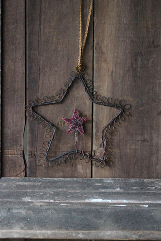 Wire Star Decoration
