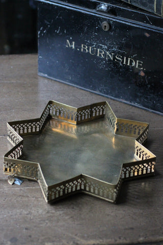 Walther & Co Brass Star Tray