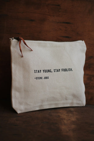 Canvas Bag - Steve Jobs Quote