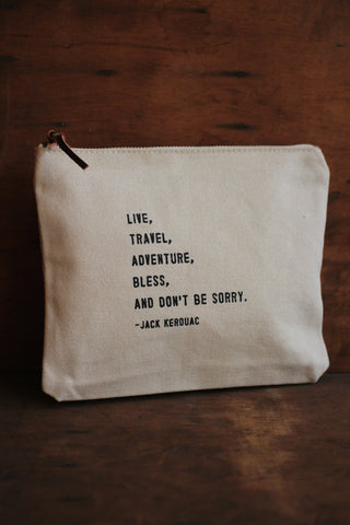Canvas Bag - Jack Kerouac Quote