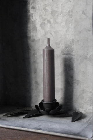 Short Dinner Candle (Dark Grey)