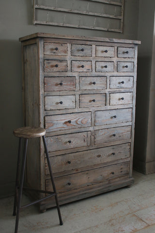 Reclaimed 20 Drawer Chest